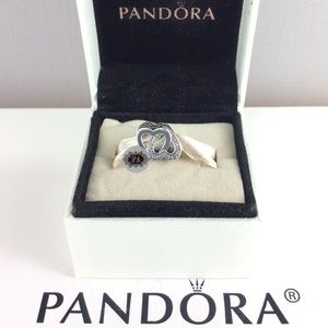 New Pandora Entwined Love Charm 791880CZ